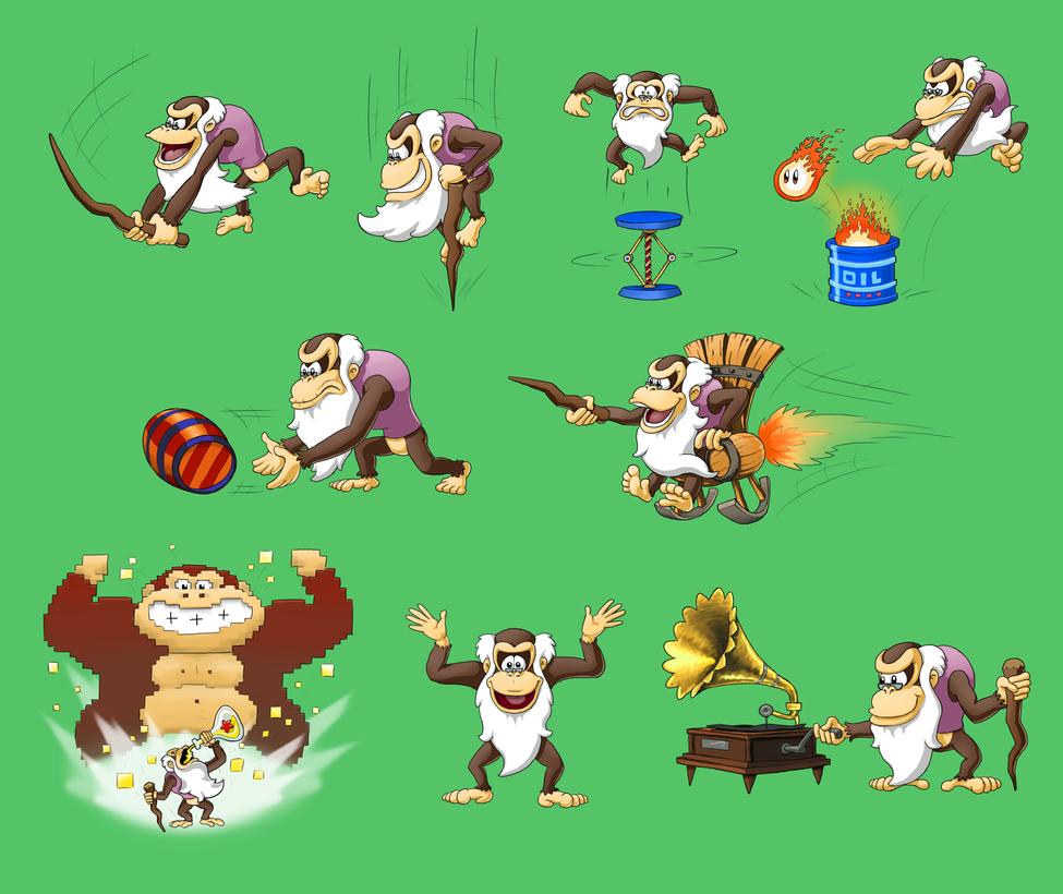 Cranky Kong Super Smash Bros. by mattdog1000000