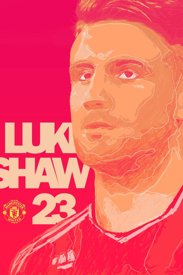 Luke Shaw by newtonheath92