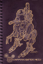 raptor type steampunk mecha... by pinoypencilpundit