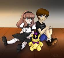 FNaF Fan Comic Color Art: Elaina and Michael