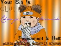 Naruto Sins: Gluttony is Chouj by MadamBlackButterfly