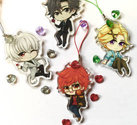 Mystic Messenger Charms by icylilies