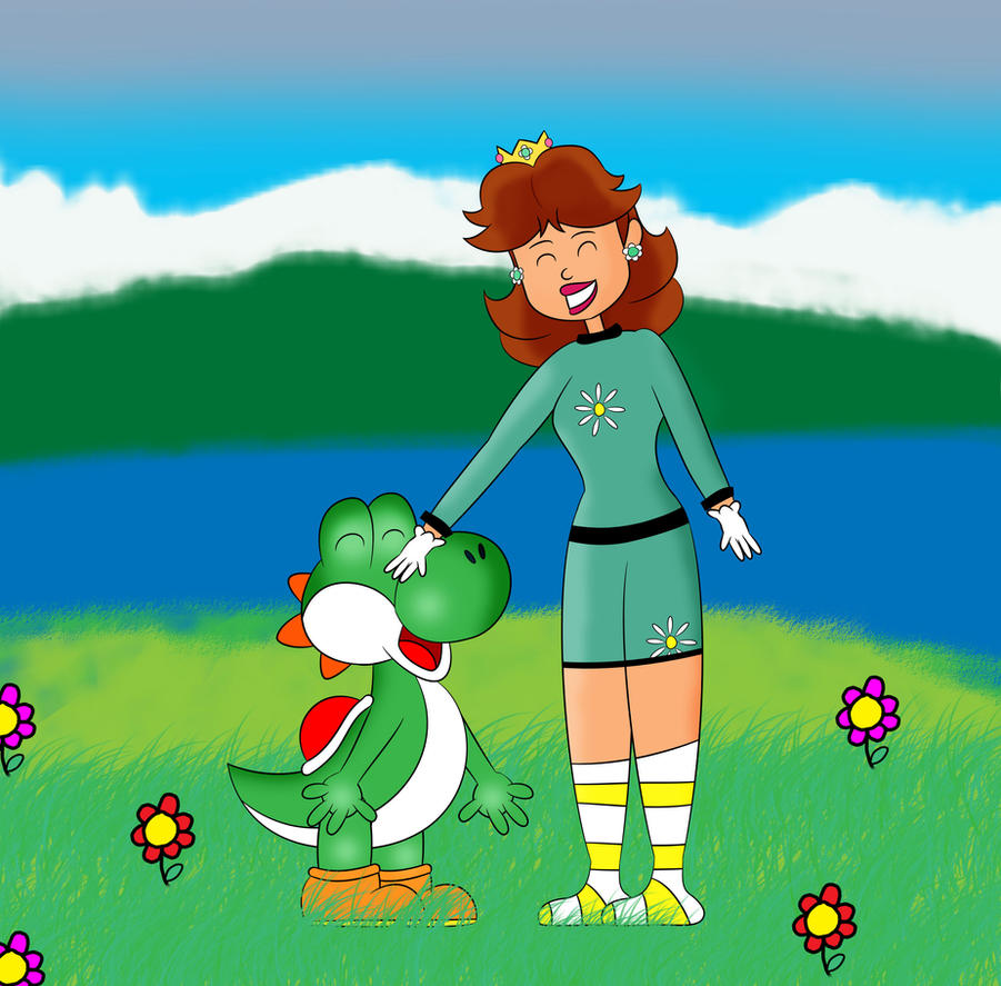 [Request] Yoshi and Daisy by C5000-MakesStuff