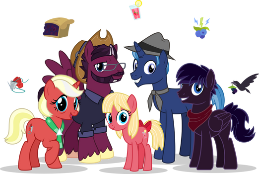 The Berry Family by MLP-TrailGrazer