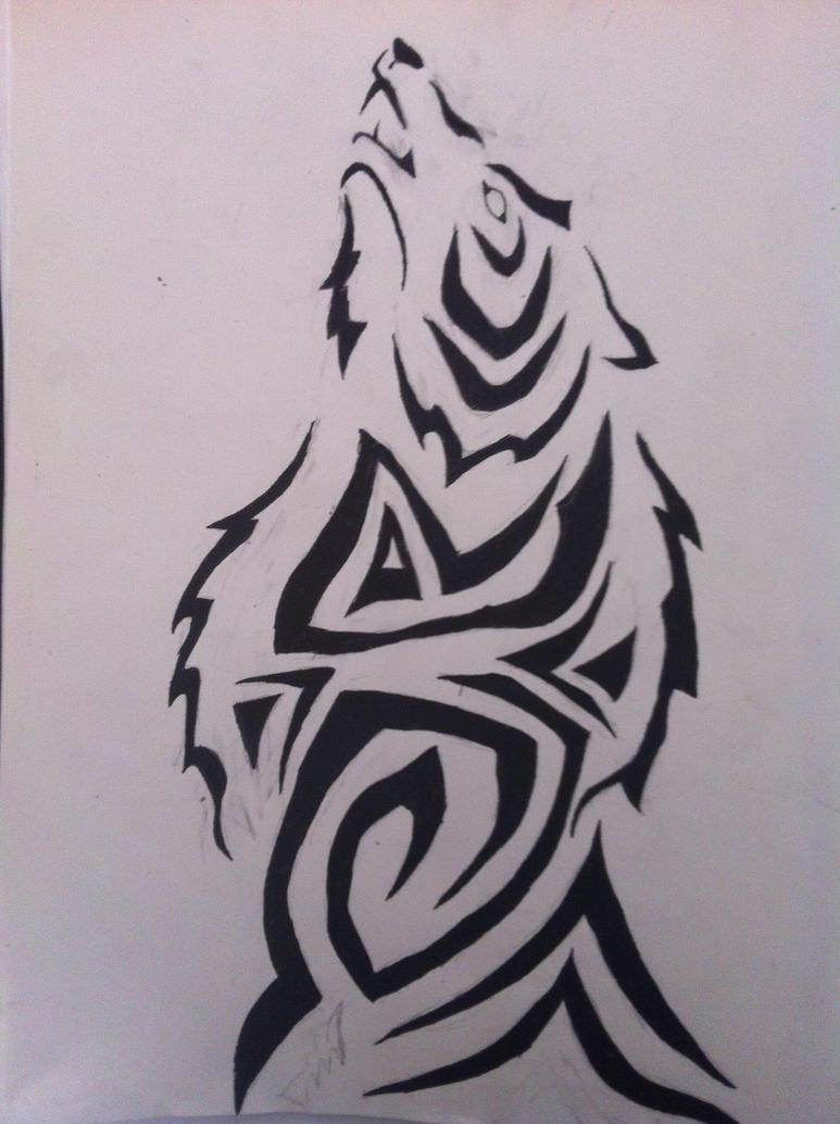 Dibujo Lobo tribal