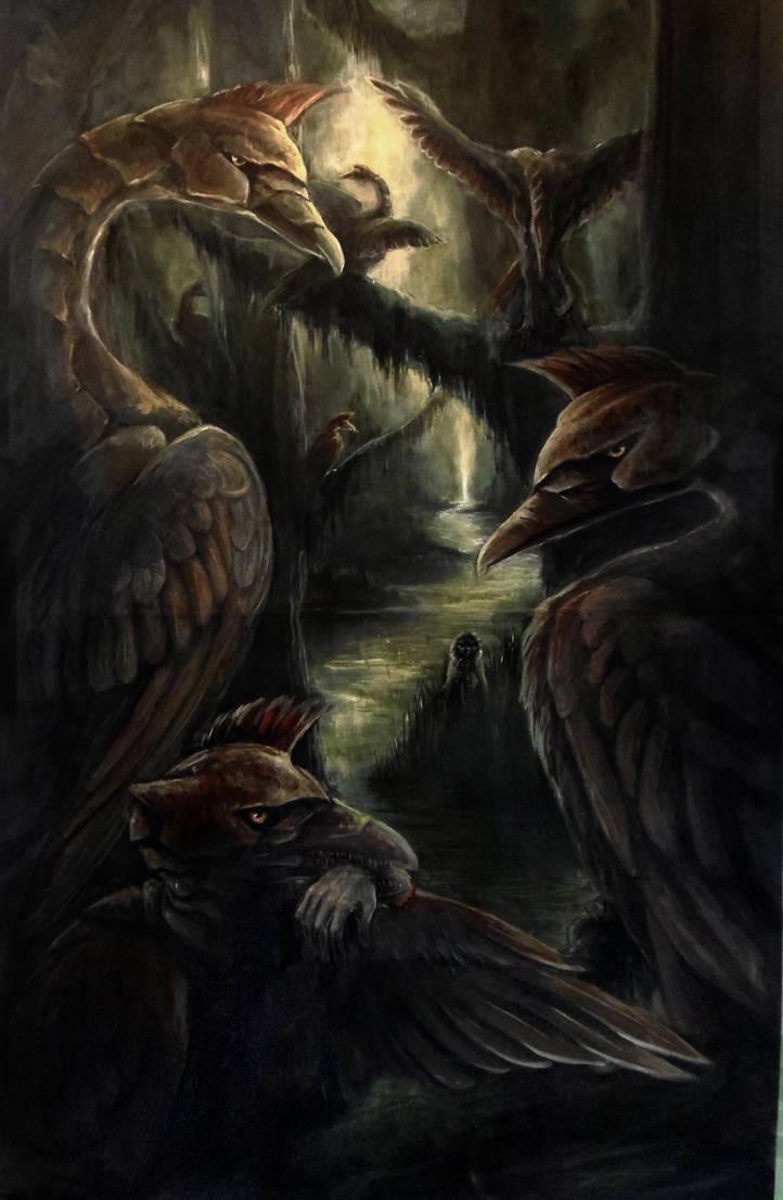Stymphalian Birds by kerosyas