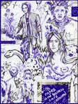 Scribbles in Purple