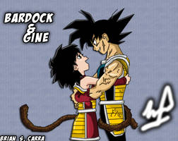 Bardock and Gine (Gokus Mother) By Brian318 by brianc318c