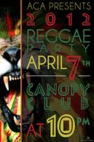 Reggae Party 2012 Flyer by autumnsayshello