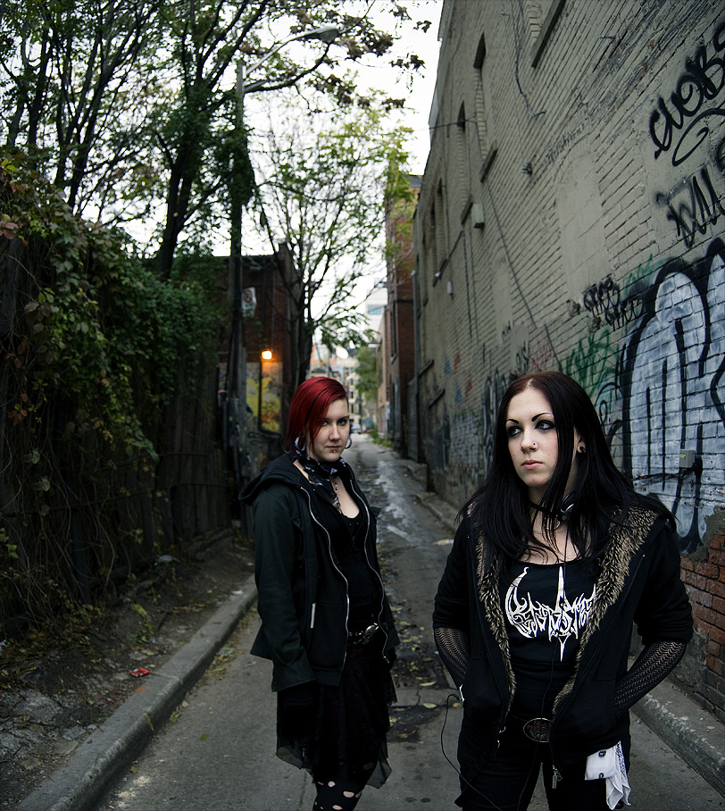 Black metal girl