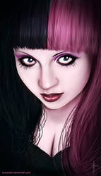 Goth Girl Portrait by InmortalKhan