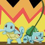 Team squirtle ans bulbasaur