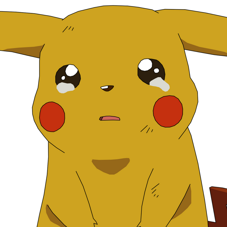 Pikachu crying drawing - photo#15