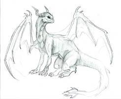 a dragony glance by LiquidDragonN