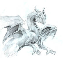 Dragon Comming forth by LiquidDragonN