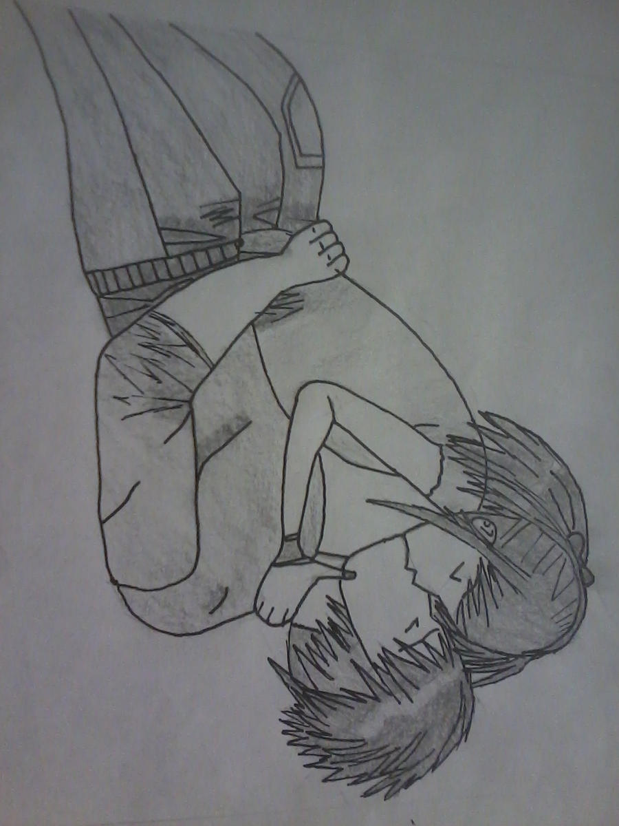 Two people kissing 2nd pic by UnrealAnubis on DeviantArt