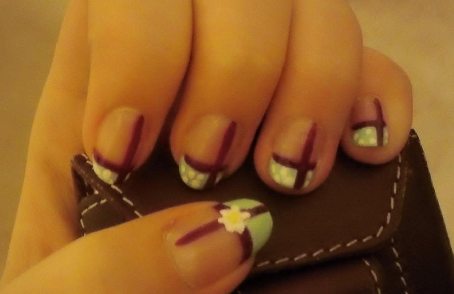 Nail Art #5 - Spring Communion by Kayleekoo on DeviantArt