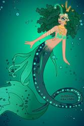 Playing mermaid doll dress-up digitally....