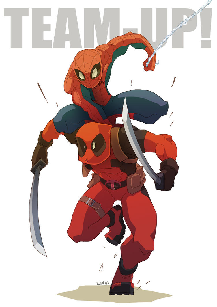 Charming SPIDER MAN And DEADPOOL TEAM UP By EBITA ...