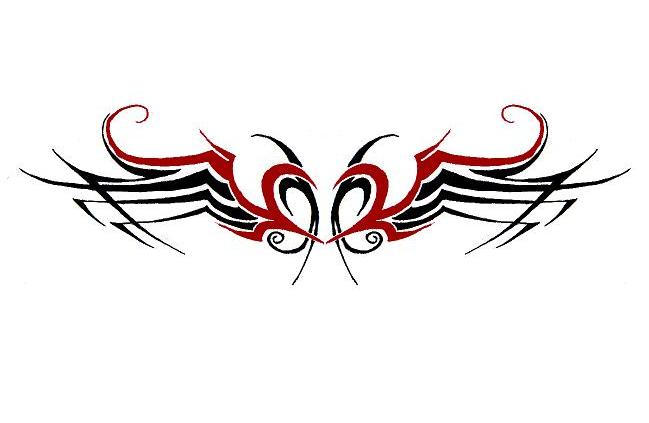 heart with wings tribal by kehido on deviantart