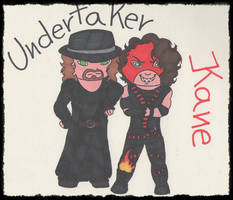 :.Undertaker and Kane.: AT by PrinceUseless