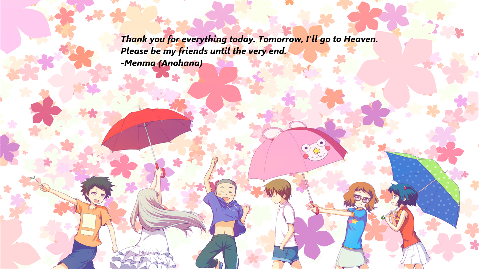 Anohana Quote By 2494Paul