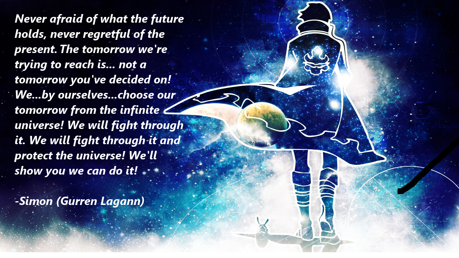 Military Anime Wallpapers Hd Quotes Backgrounds With Art: Gurren Lagann Quote 1 By 2494Paul On DeviantArt