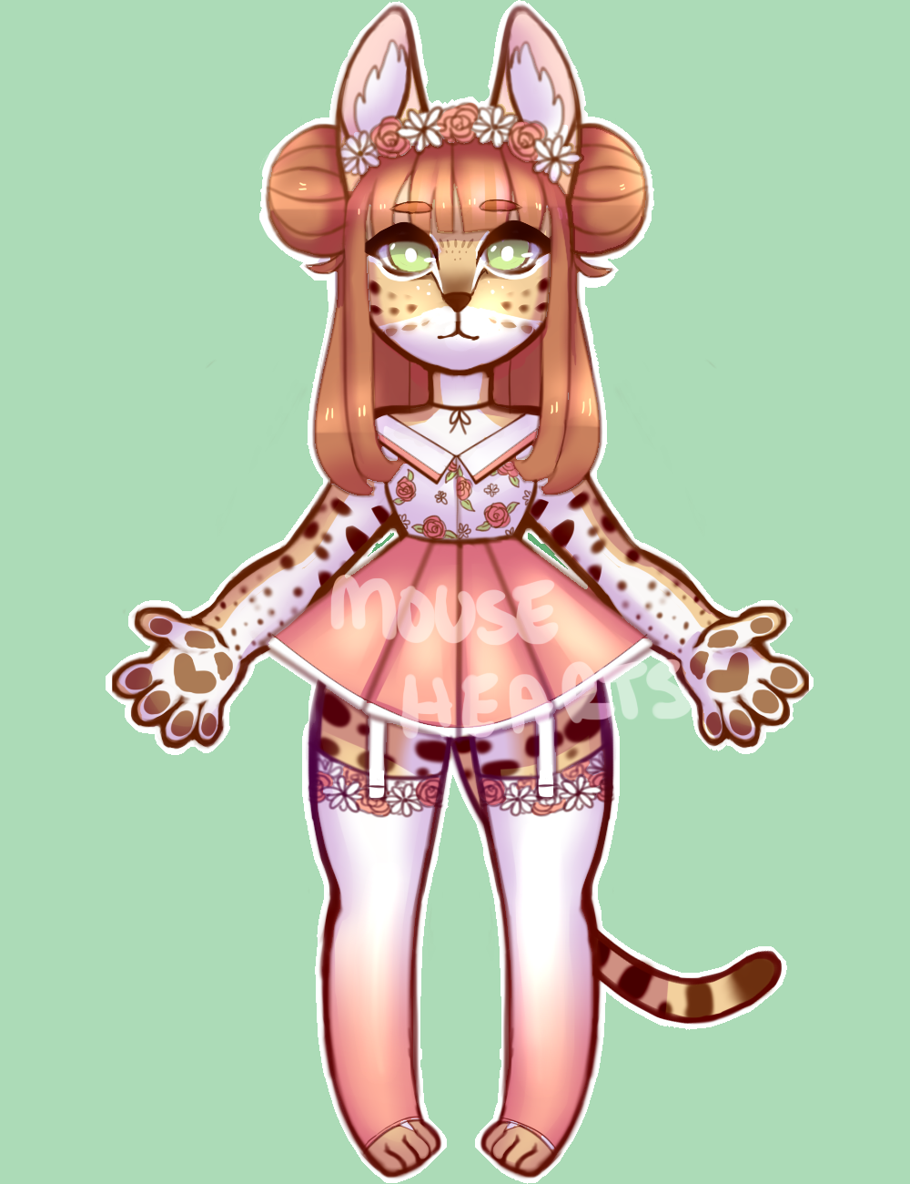 ADOPTS [OPEN]:  Serval Anthro - AUCTION by Mousehearts