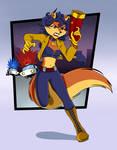 Carmelita Fox: You can't escape me Raccoon