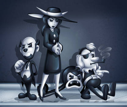 The Butcher Gang and The Lady by Sofie-Spangenberg