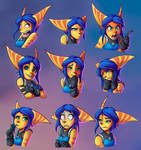 Expression Sheet: Donna by Sofie-Spangenberg
