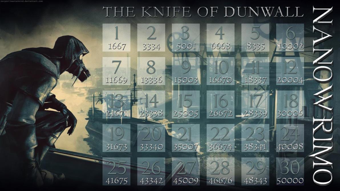 Dishonored NaNoWriMo Calendar 2 by veryevilmastermind