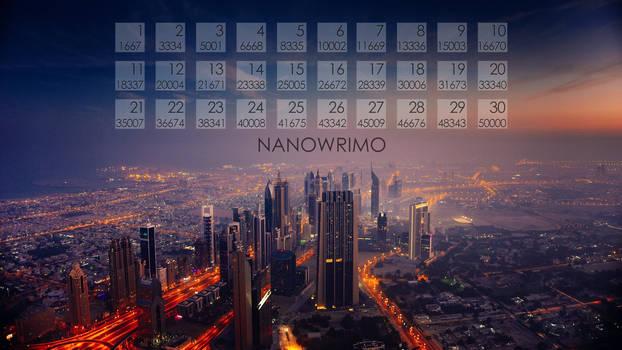 Cityscape NaNoWriMo Calendar