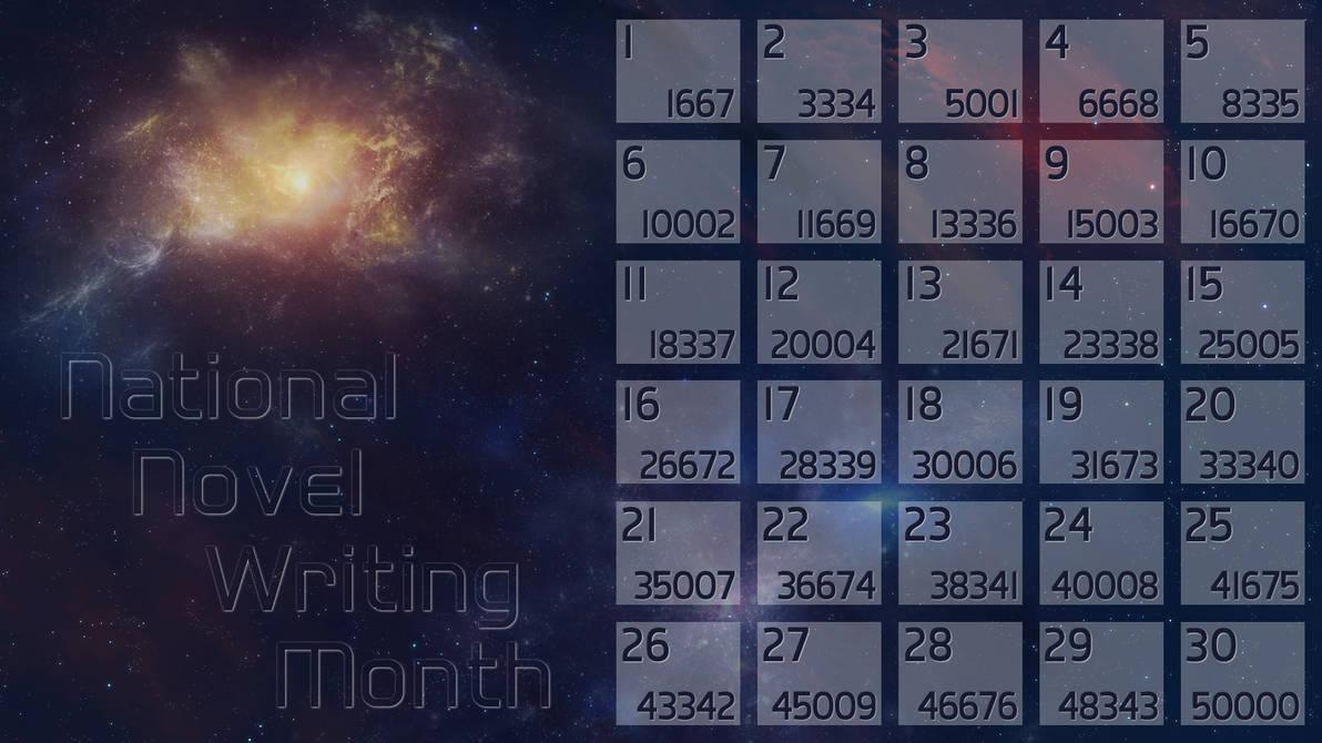 Space NaNoWriMo Calendar