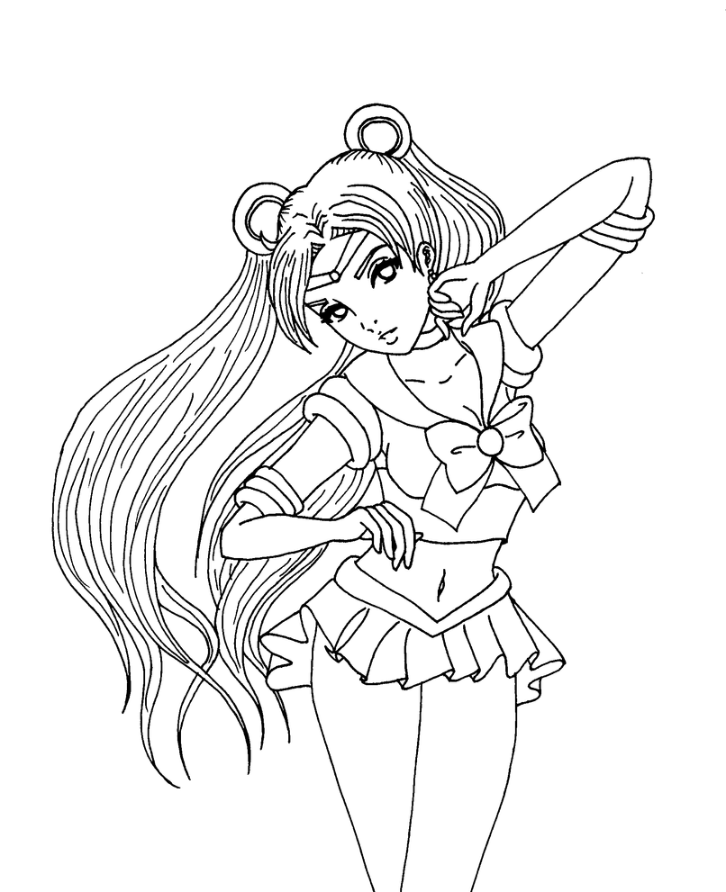 Sexy anime coloring pages