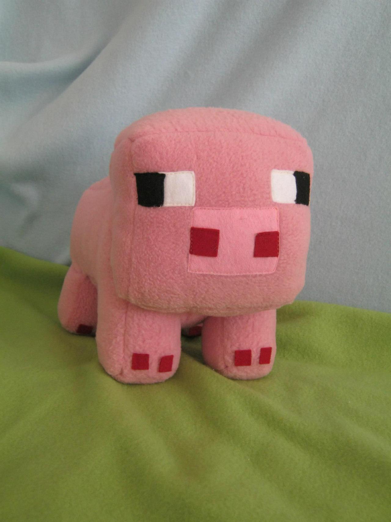 Minecraft Pig Plushie by PlushWorkshop