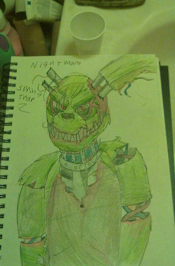 Nightmare Springtrap by vipermoon878