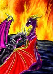 Spyro and Cynder-It's too late by whiteEyess