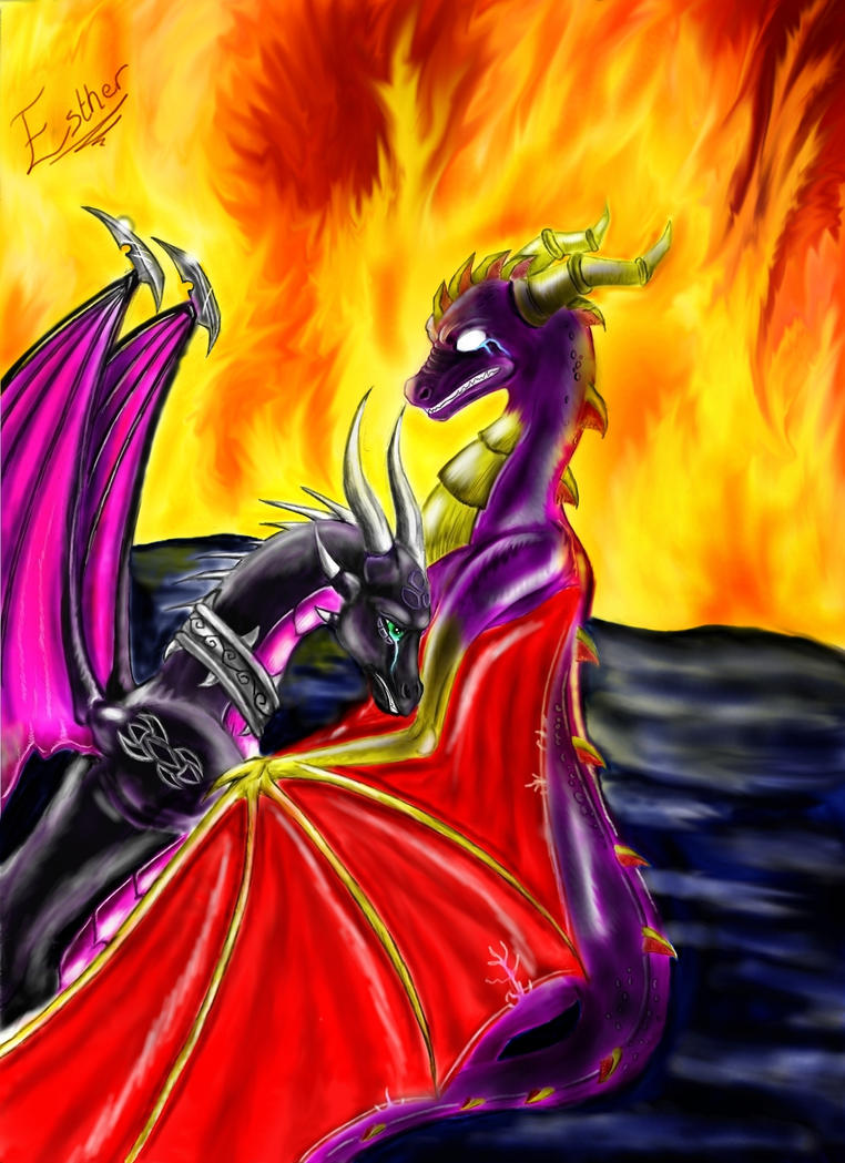 Spyro and Cynder-It's too late by whiteEyess on DeviantArt