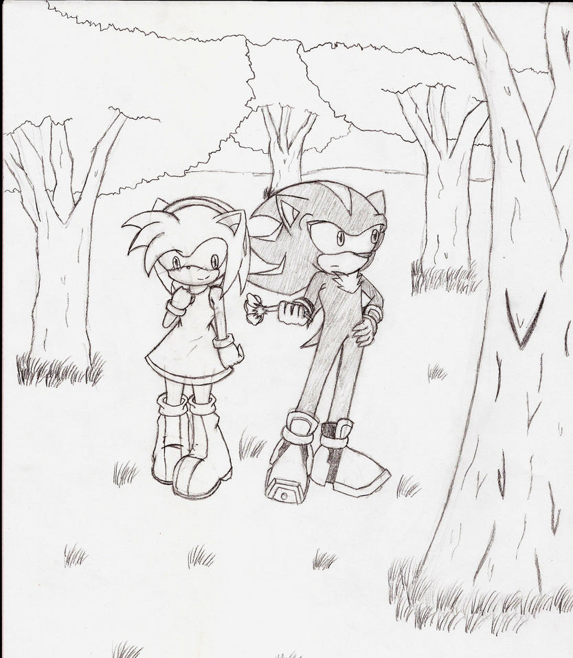 A little stop in the forest by Darkjavi
