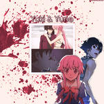 Mirai Nikki | Yuki and Yuno (GIF) by un3xpectedfate