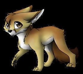 Shy, little Fennec Fox by Celioxa