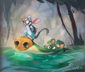 Onward, waterpooch!