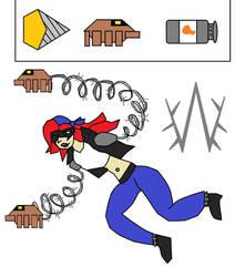 Barb Wire. ARMS OC by javiermetal66