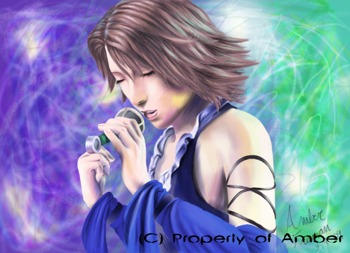 Yuna Singing by CinnamonSoldier