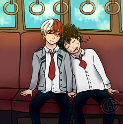 Todoroki and Midoriya: Train Ride