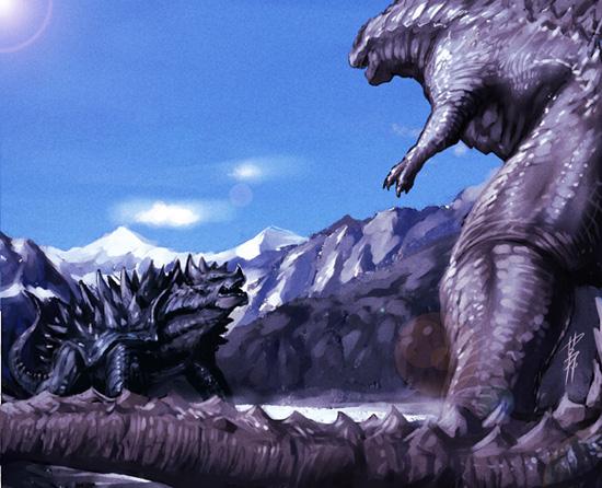 Anguirus Concept Art Random Godzilla...