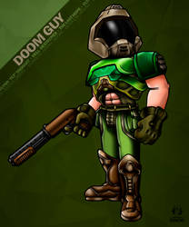 DoomGuy Mini Fanart