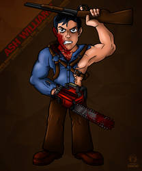 Ash Williams Mini Fanart by S-m-o-G