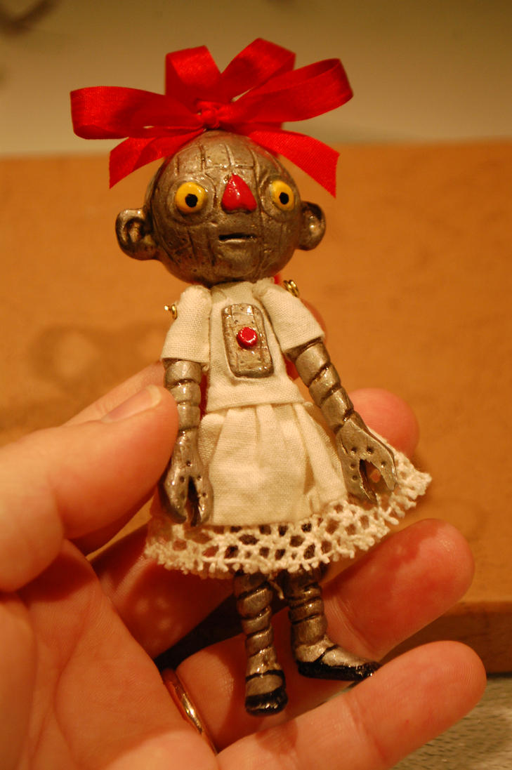 Robot Ornament by Woodedwoods